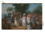A Linen Market With A Linen-stall And Vegetable Seller In The West Indies Carry-all Pouch