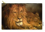 A Lion And A Lioness Carry-all Pouch