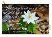 A Little Flower Carry-all Pouch