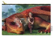 A Little Girl And Her Dragon Carry-all Pouch