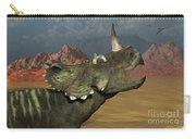 A Lone Centrosaurus Dinosaur Calling Carry-all Pouch