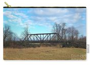 A Lonesome Railroad Bridge In Winter   Carry-all Pouch