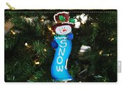 A Long Snow Ornament- Horizontal Carry-all Pouch