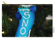 A Long Snow Ornament- Vertical Carry-all Pouch