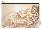 A Maiden Embraced By A Knight In Armor Carry-all Pouch
