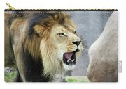 A Male Lion, Panthera Leo, Roaring Loudly Carry-all Pouch