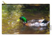 A Male Mallard Duck 3 Carry-all Pouch