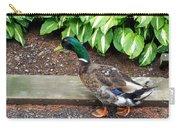 A Male Mallard Duck 4 Carry-all Pouch