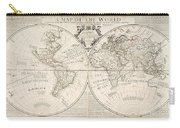A Map Of The World Carry-all Pouch by John Senex
