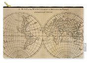 A Map Of The World With The Voyage Of Robinson Crusoe Carry-all Pouch