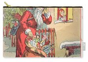 A Merry Christmas Vintage Greetings From Santa Claus And His Gifts Carry-all Pouch