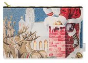 A Merry Christmas Vintage Greetings From Santa Claus And His Raindeer Carry-all Pouch