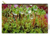 A Microcosm Of The Forest Of Moss In Rain Droplets Carry-all Pouch