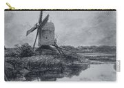 A Mill On The Banks Of The River Stour Charcoal On Paper Carry-all Pouch