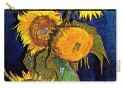 A Modern Look At Vincent's Vase With 5 Sunflowers Carry-all Pouch