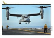 A Mv-22 Osprey Aircraft Prepares Carry-all Pouch