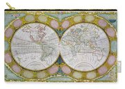A New And Correct Map Of The World Carry-all Pouch by Robert Wilkinson