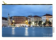 A Night View Of Split Old Town Waterfront In Croatia Carry-all Pouch