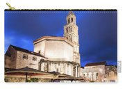 A Night View Of The Cathedral Of Saint Domnius In Split Carry-all Pouch