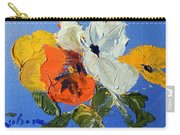 A Nudge Of Pansies Carry-all Pouch