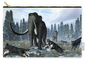 A Pack Of Dire Wolves Crosses Paths Carry-all Pouch