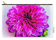 A Painted Dahlia Carry-all Pouch