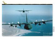 A Pair Of C-130 Hercules In Flight Carry-all Pouch