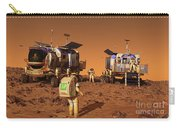 A Pair Of Manned Mars Rovers Rendezvous Carry-all Pouch
