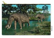 A Pair Of Platybelodon Grazing Carry-all Pouch by Walter Myers