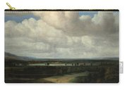 A Panoramic Landscape With A Country Estate Carry-all Pouch