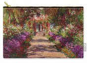 A Pathway In Monets Garden Giverny Carry-all Pouch by Claude Monet