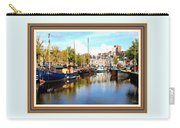 A Peaceful Canal Scene - The Netherlands L A S With Decorative Ornate Printed Frame. Carry-all Pouch