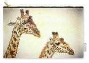 A Perfect Pair- Masai Giraffe Carry-all Pouch