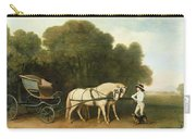 A Phaeton With A Pair Of Cream Ponies In The Charge Of A Stable-lad Carry-all Pouch