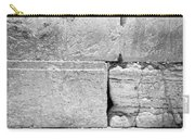 A Piece Of The Wailing Wall In Black And White Carry-all Pouch