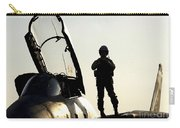 A Pilot Prepares To Enter His F-14b Carry-all Pouch