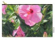 A Pink Hibiscus Carry-all Pouch