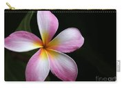 A Pink Plumeria Carry-all Pouch