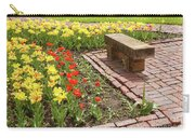 A Place To Sit By The Flowers Carry-all Pouch