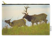 A Portrait Of A Large Bull Elk Following A Cow,rutting Season. Carry-all Pouch