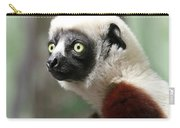 A Portrait Of A Sifaka Primate, A Large Lemur Carry-all Pouch
