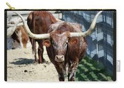 A Portrait Of A Texas Longhorn Steer Carry-all Pouch