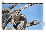 A Prairie Falcon Against A Blue Sky Carry-all Pouch