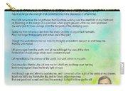 A Prayer By Max Ehrmann V1 Carry-all Pouch by Adam Asar
