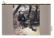 A Pushkin On A Garden Bench 1899 Valentin Serov Carry-all Pouch