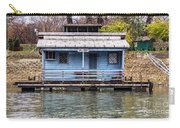 A Raft House Moored To The Shoreline Of Ada Ciganlija Islet Carry-all Pouch