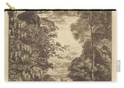 A Rainbow Landscape With Two Women Viewing It From Above Carry-all Pouch