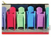 A Rainbow Of Chairs Carry-all Pouch