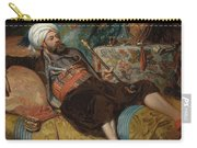 A Reclining Turk Smoking A Hookah, 1844 Carry-all Pouch