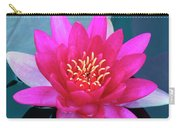 A Red And Yellow Water Lily Flower Carry-all Pouch